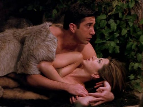 Ross and Rachel wallpaper containing a fur coat called Ross and Rachel 2x15