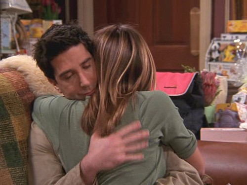 Ross and Rachel wallpaper possibly with a brasserie entitled Ross and Rachel 8x21