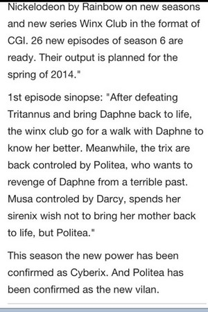 Season 6 info??