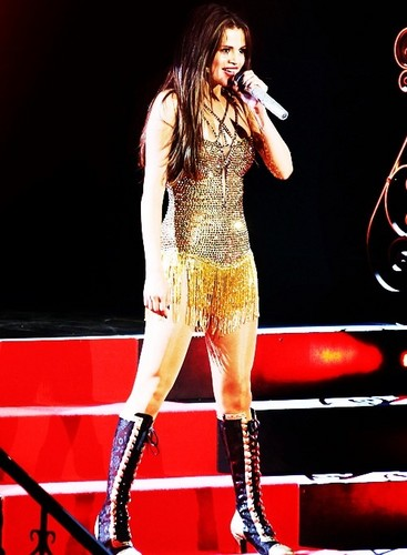 Selena performing on her Stars Dance Tour (Canada)