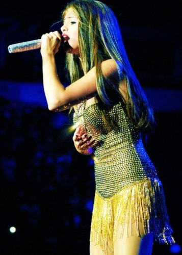 Selena performing on tour in Vancouver (August 14)