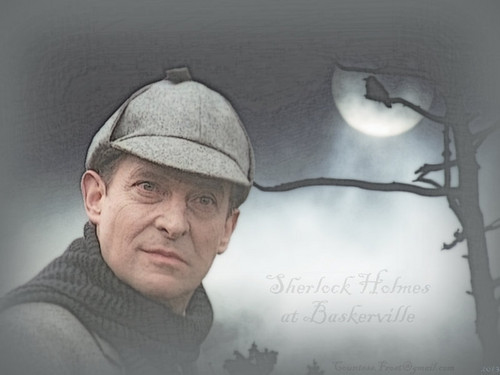 Jeremy Brett Hintergrund possibly containing a sign called Sherlock Holmes at Baskerville
