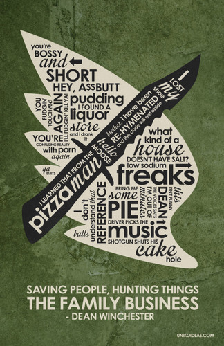 Supernatural Wallpaper Titled Supernatural Inspired Quote Poster