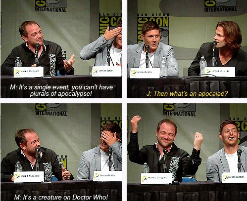 supernatural talking about Doctor Who
