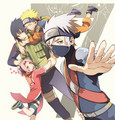 Team 7 - naruto-shippuuden fan art