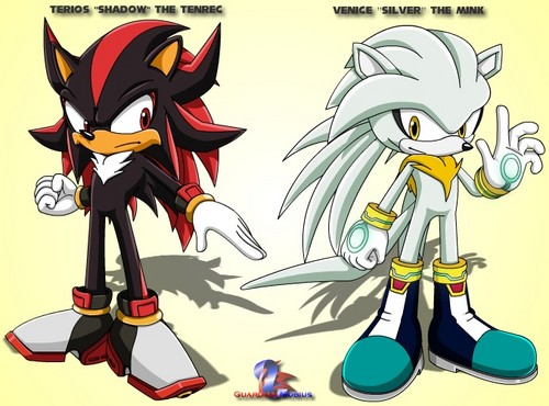 Silver the Hedgehog kertas dinding containing Anime titled Terios the Tenrec and Venice the cerpelai, mink