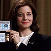 Jodie Foster photo probably containing a business suit and a portrait called The Silence of the Lambs