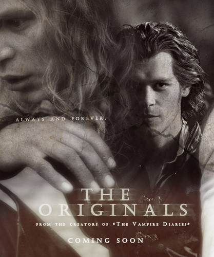 The CW kertas dinding probably with a sign and a portrait entitled The originals