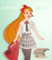 Thumbelina as Schoolgirl - childhood-animated-movie-heroines fan art