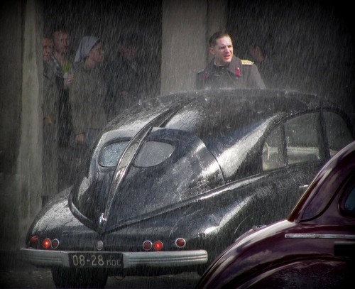 Tom Hardy filming Child 44 in Prague today!