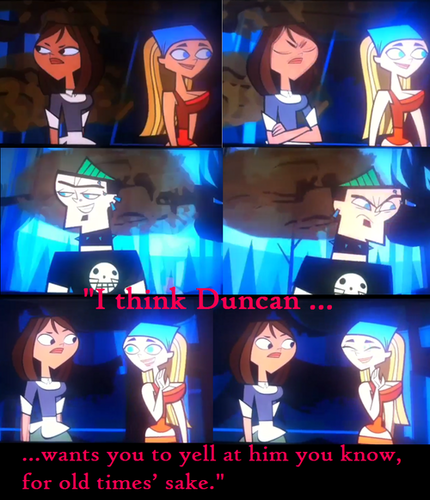 Duncan and Courtney wallpaper titled Total Drama All Stars lol