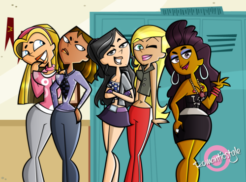 A tutto reality - L'isola wallpaper containing Anime called Total Drama School Girls