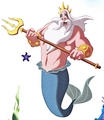 Walt Disney Book Images - King Triton