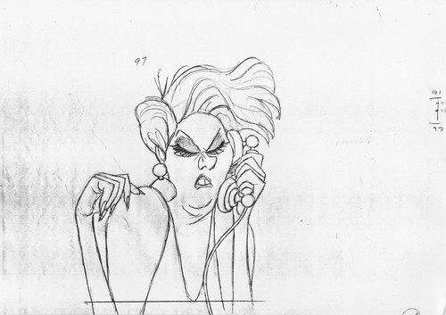 Walt ディズニー Sketches - Madame Medusa