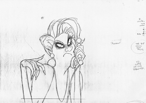 Walt Disney Sketches - Madame Medusa