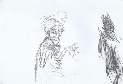 Walt Disney Sketches - Madame Medusa