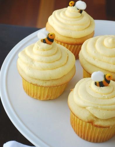 Yellow koekje, cupcake