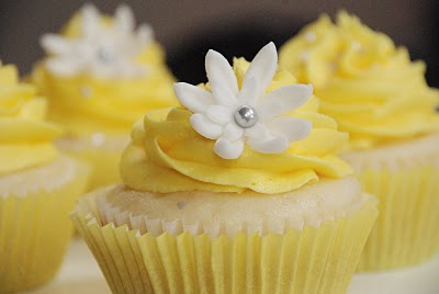 Cupcakes wallpaper with a cupcake, a cream cheese, and a frosted layer cake called Yellow Cupcakes ♥