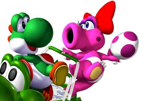 Yoshi and Birdo Dino amor