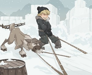 Young Kristoff and Sven