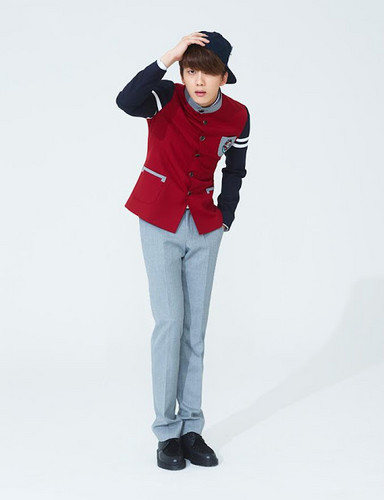 Youngjae wallpaper possibly containing a well dressed person, long trousers, and an outerwear called Youngjae for Skoolooks