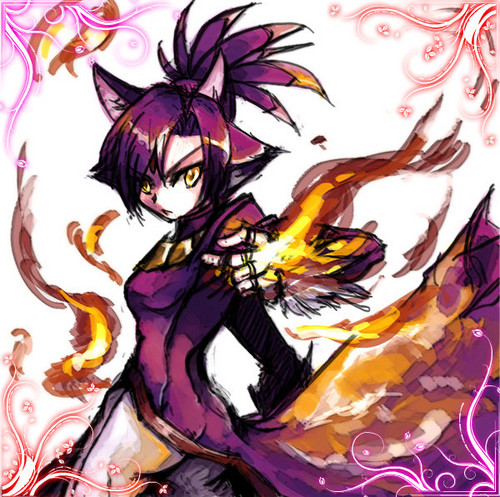 Blaze the Cat karatasi la kupamba ukuta titled blaze the cat (human)