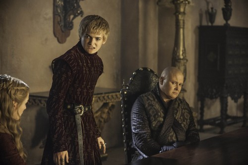 Game of Thrones wallpaper possibly with a drawing room called Joffrey Baratheon & Varys