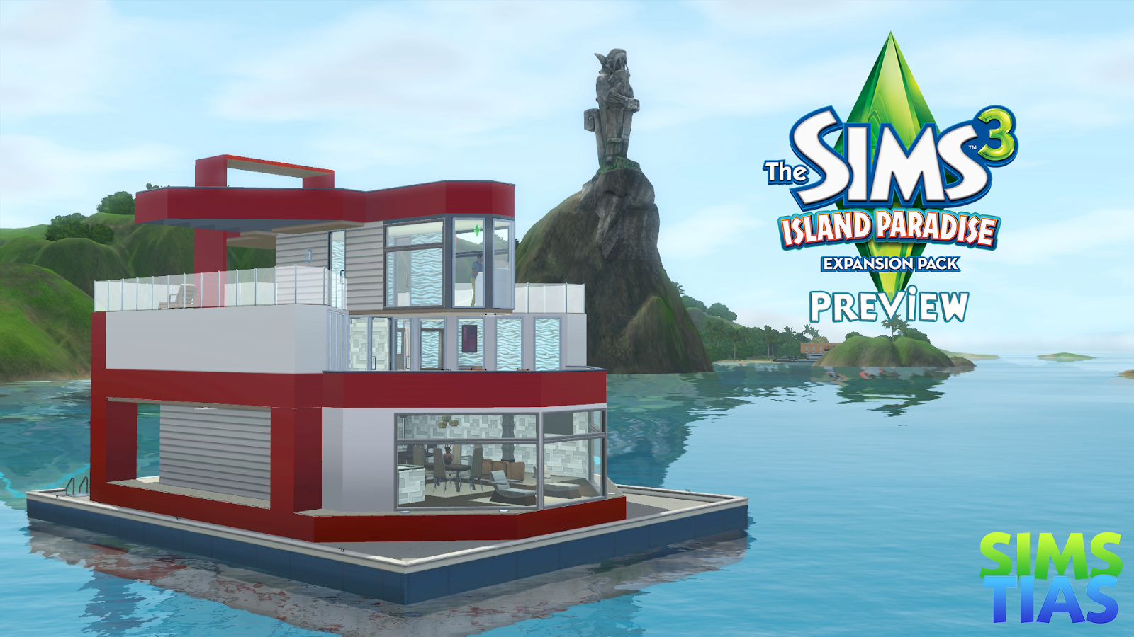 Sims3 Island Paradise Images House Boat HD Wallpaper And Background Photos