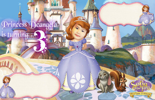 Sofia The First wallpaper possibly with a parasol and a street titled invitation outline