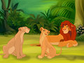 kiara and her parents - lion-king-fathers-and-mothers photo