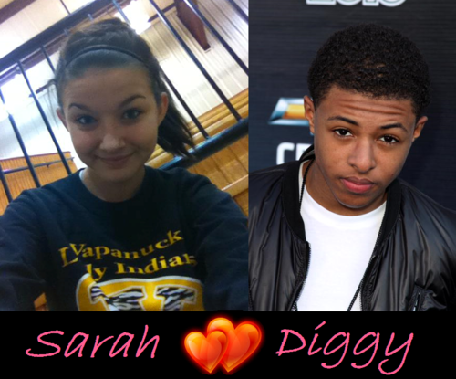 Diggy Simmons wallpaper with a sign entitled me and Diggy