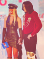 michael and britney holding hand