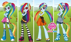 my little pony equstria girls arcobaleno dash
