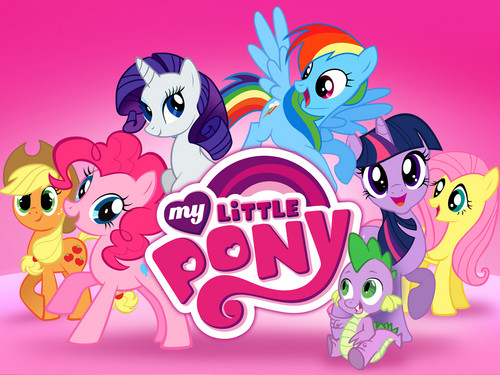 MLP:FiM Characters wallpaper possibly with anime called my little pony