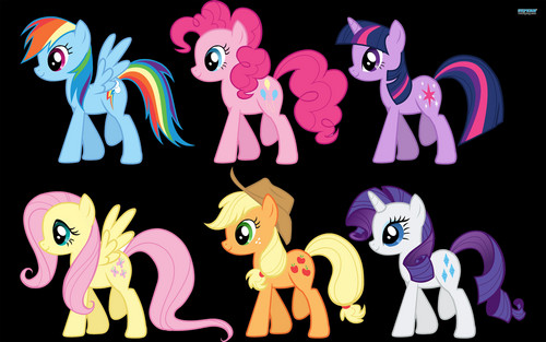 MLP:FiM Characters wallpaper probably with a sign called my little pony