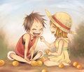 namixluffy kids - luffyxnami fan art