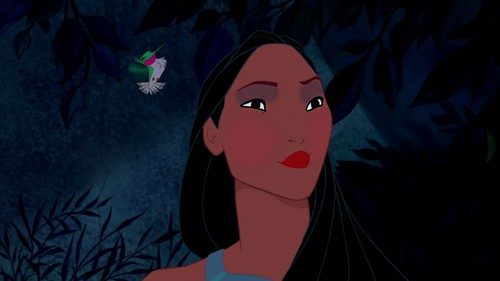 pocahontas' out-there look
