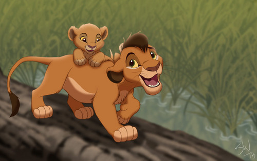 The Lion King 2:Simba's Pride wallpaper entitled pony ride
