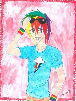 rainbowdash as a BOY