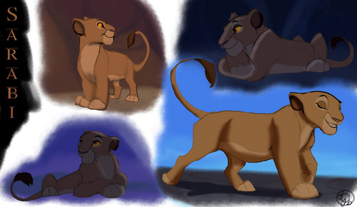 the lion king wallpaper probably containing anime entitled sarabi cub