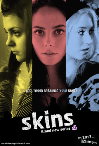 Skins Hintergrund probably with a portrait and Anime titled series 7 posters