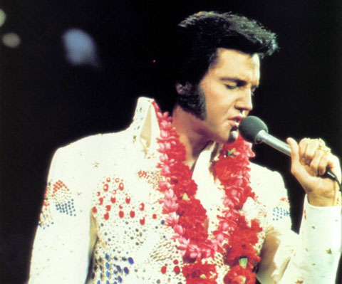 "Elvis Presley Hintergrund called ""Aloha From Hawaii"" Back In 1973"