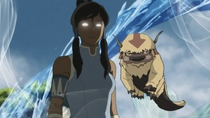 Book 2 Korra in Avatar State