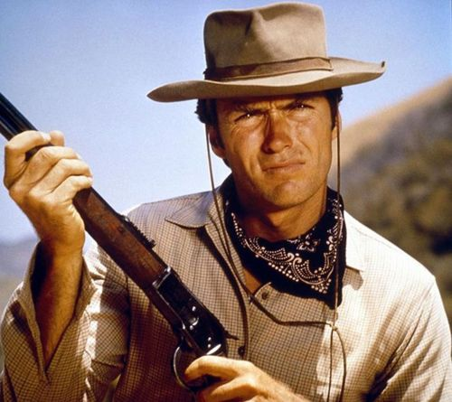 Clint Eastwood wallpaper containing a snap brim hat titled ★ Clint as Rowdy Yates ☆