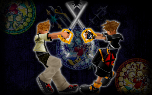 Kingdom Hearts kertas dinding called ~Dive!~