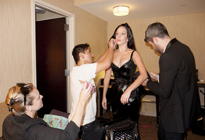 """Gaga getting ready fro the red carpet #2"" - (by Terry Richardson)"