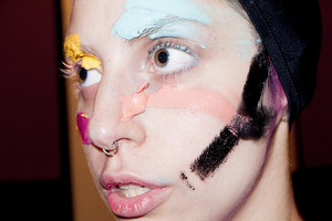 """Gaga makeup test #2"" - (by Terry Richardson)"