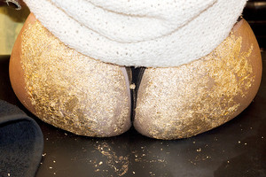 """Gaga's golden butt."" - (by Terry Richardson)"