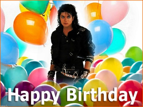 Michael Jackson wallpaper with a meteorological balloon and a jelly bean called ♥ HAPPY BIRTHDAY MICHAEL ♥