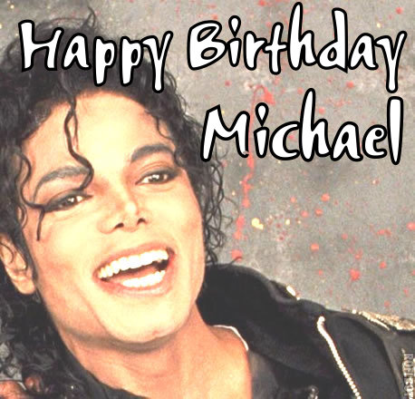 Michael Jackson wallpaper probably containing anime and a portrait titled ♥ HAPPY BIRTHDAY MICHAEL ♥
